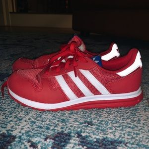 Adidas Red & White Sneakers